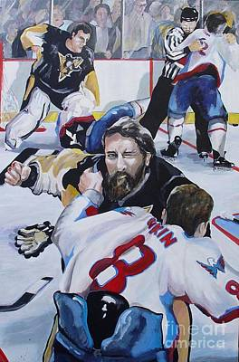 Alex Ovechkin Painting - Donnybrook by Philip Kram