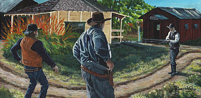 Log Cabins Painting - Don't Advise It Boys by Timithy L Gordon