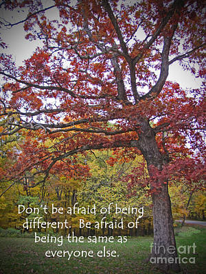 Don't Be Afraid Of Being Different Art Print