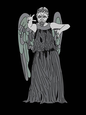 Dr. Who Digital Art - Dont Blink by Jera Sky