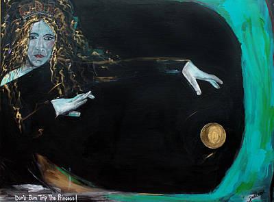 T- Ball Painting - Don't Bum Trip The Princess by Darlene Graeser