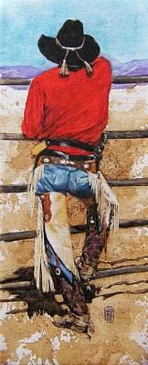 Arizona Cowboy Artist Painting - Don't Fence Me In by Debra Jones