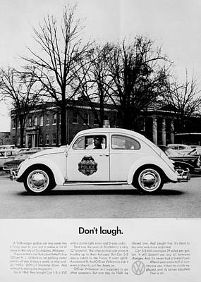 Police Car Photograph - Don't Laugh by Benjamin Yeager