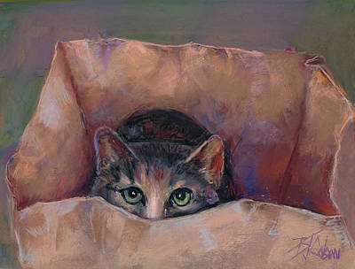 Painting - Don't Let The Cat Out Of The Bag by Billie Colson