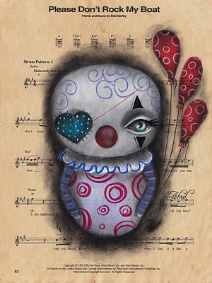 Painting - Don't Rock My Boat Clown by  Abril Andrade Griffith