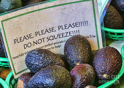 Photograph - Don't Squeeze The Avocados By Diana Sainz by Diana Raquel Sainz