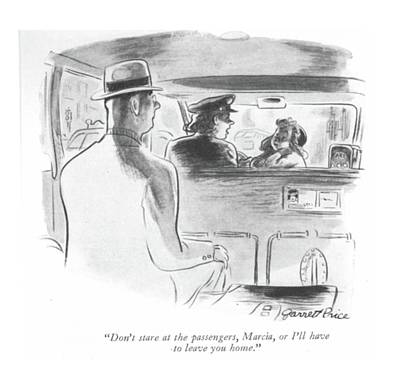 Transit Drawing - Don't Stare At The Passengers by Garrett Price
