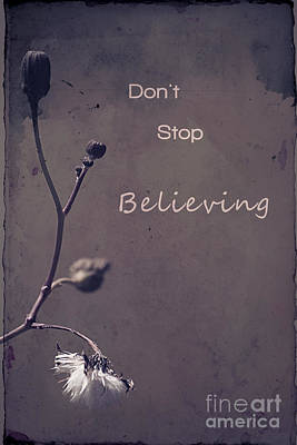 Photograph - Don't Stop Believing by Aimelle
