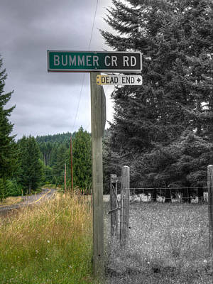 Photograph - Don't Turn Here by HW Kateley