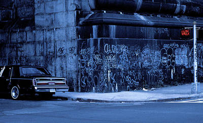 Dont Walk (from The Series new York Blues) Art Print
