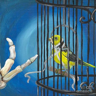 Free Speech Painting - Don't You Dare Sing by Amanda Christine Shelton