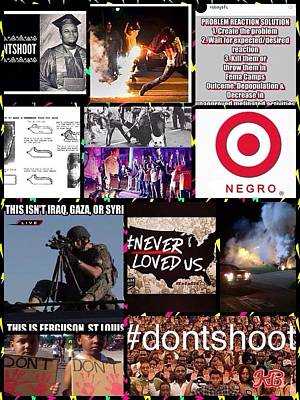 Digital Art - #dontshoot by Karen Buford