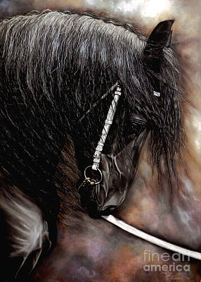 Forelock Painting - Dont't Bite The Show Lead by Caroline Collinson