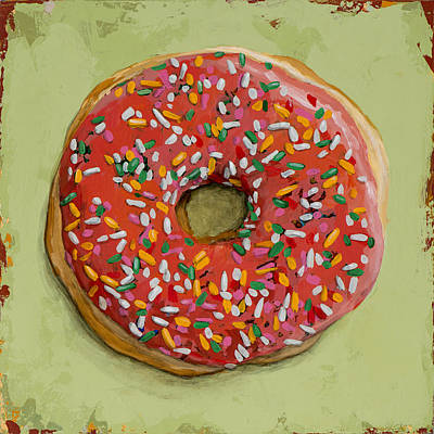Donut Painting - Donut #1 by David Palmer