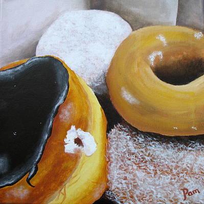 Donuts 2 Print by Pamela Burger