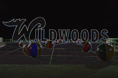 Photograph - Doo Wop Wildwood  by Greg Graham