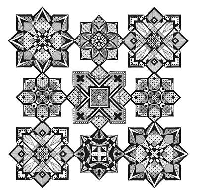 Dots And Lines Drawing - Doodle 11 by Sherri Odegaarden