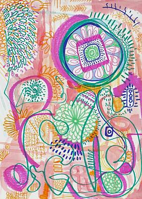 Painting - Doodle Abstract by Rosalina Bojadschijew
