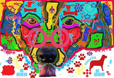 Digital Art - Doodled Dog by Audreen Gieger
