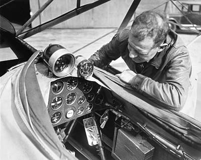 Cockpit Photograph - Doolitle' Blind Plane by Underwood Archives