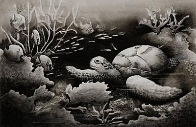 Doomed Sea Life Art Print by Joy Bradley
