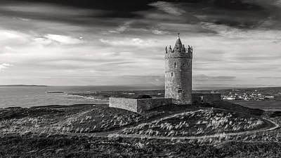 Photograph - Doonagore Castle Black And White by Pierre Leclerc Photography