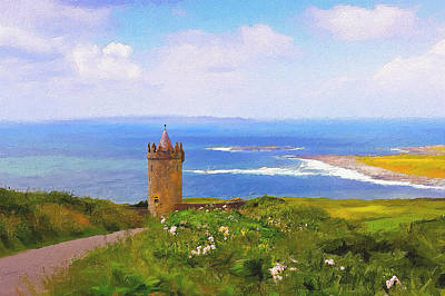 Doonagore Tower Photograph - Doonagore Castle by Michael Walsh