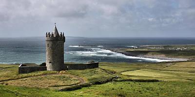 Doonagore Tower Photograph - Doonagore Castle Panorama by Mark Callanan