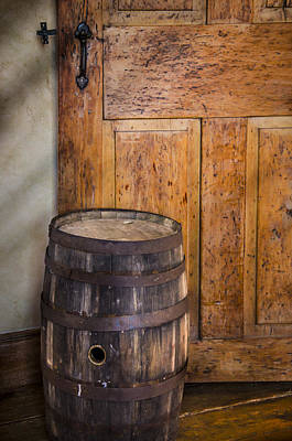 Photograph - Door And Cask by Bradley Clay