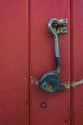 Photograph -  Red Door And Hook by James Hammond