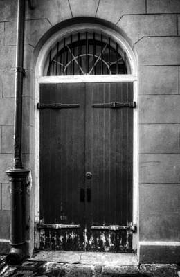 Black And White Photograph - Door And Pipe In Black And White by Chrystal Mimbs