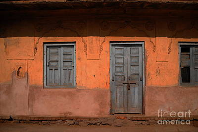 Photograph - Door And Windows At Step Well by Jacqueline M Lewis