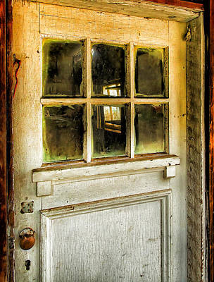 Old Door Photograph - Door And Windows by Theresa Tahara
