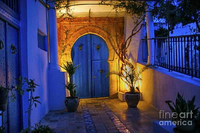 Photograph - Door At Night by Rick Bragan