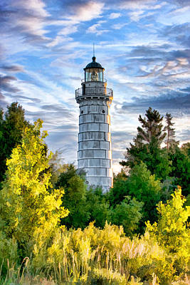 Lens Painting - Door County Cana Island Beacon by Christopher Arndt