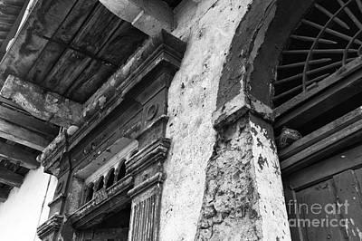 Photograph - Door Details Mono by John Rizzuto