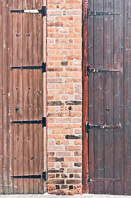 Door Hinges Art Print by Tom Gowanlock