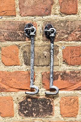 Old Latch Photograph - Door Hooks by Tom Gowanlock