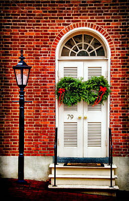 Photograph - Door In Historic Bethlehem Pa by Carolyn Derstine