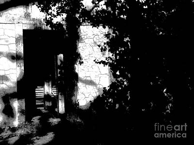 Photograph - Door In Shadows - Jamestown Va by Jacqueline M Lewis