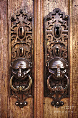 Knocker Photograph - Door Knobs by Carlos Caetano