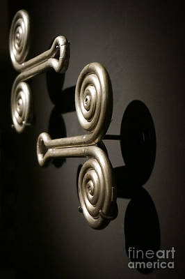 Photograph - Door Knobs by Ellen Cotton