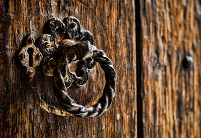 Tower Of London Photograph - Door Knocker by Heather Applegate