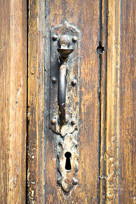 Photograph - Door Latch by Tom Gowanlock
