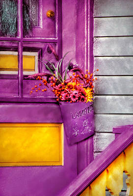 Photograph - Door - Lavender by Mike Savad