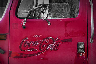Photograph - Door Of A Vintage Beverage Truck by Randall Nyhof