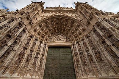 Relief Carving Photograph - Door Of Assumption Of The Seville Cathedral by Artur Bogacki