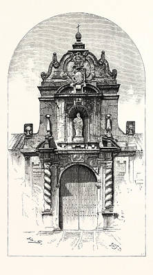 Pablo Drawing - Door Of The Church Of San Pablo, Cordova by Spanish School