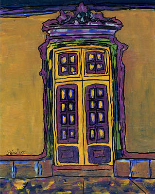 Painting - Door On Yellow  by Oscar Penalber