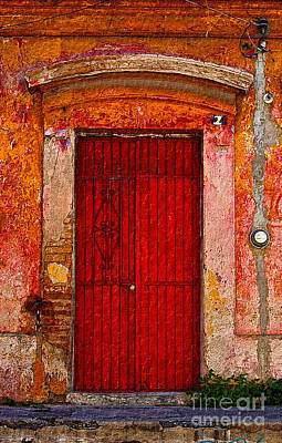 Photograph - Door Series - Red by Susan Parish